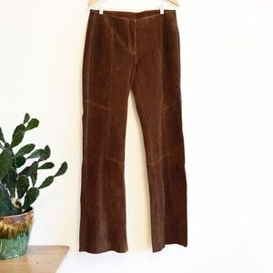 Women's 12 L/XL (34x35) Tall Brown Suede Pants